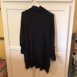 NWT Free People Black Turtleneck Tunic Size XS